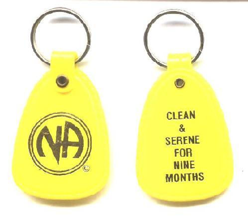Lot Of 3-5 Year Clean Time Key Tag NARCOTICS ANONYMOUS Orange /& Black